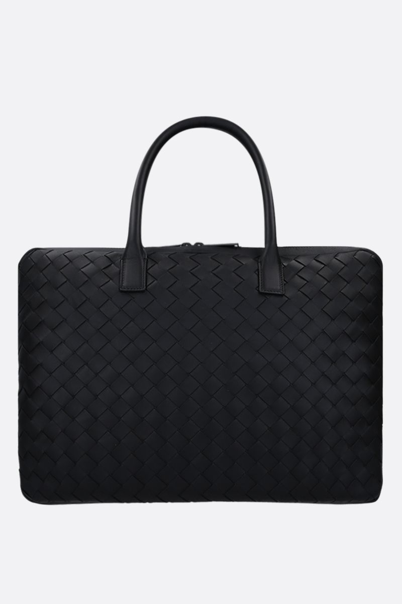 BOTTEGA VENETA: Intrecciato VN medium business bag Color Black_1