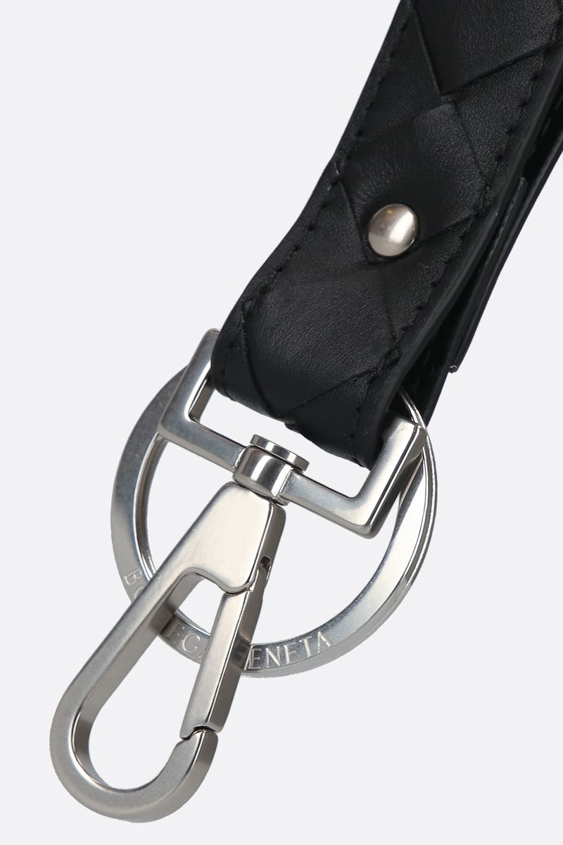 BOTTEGA VENETA: Intrecciato VN key holder Color Black_2