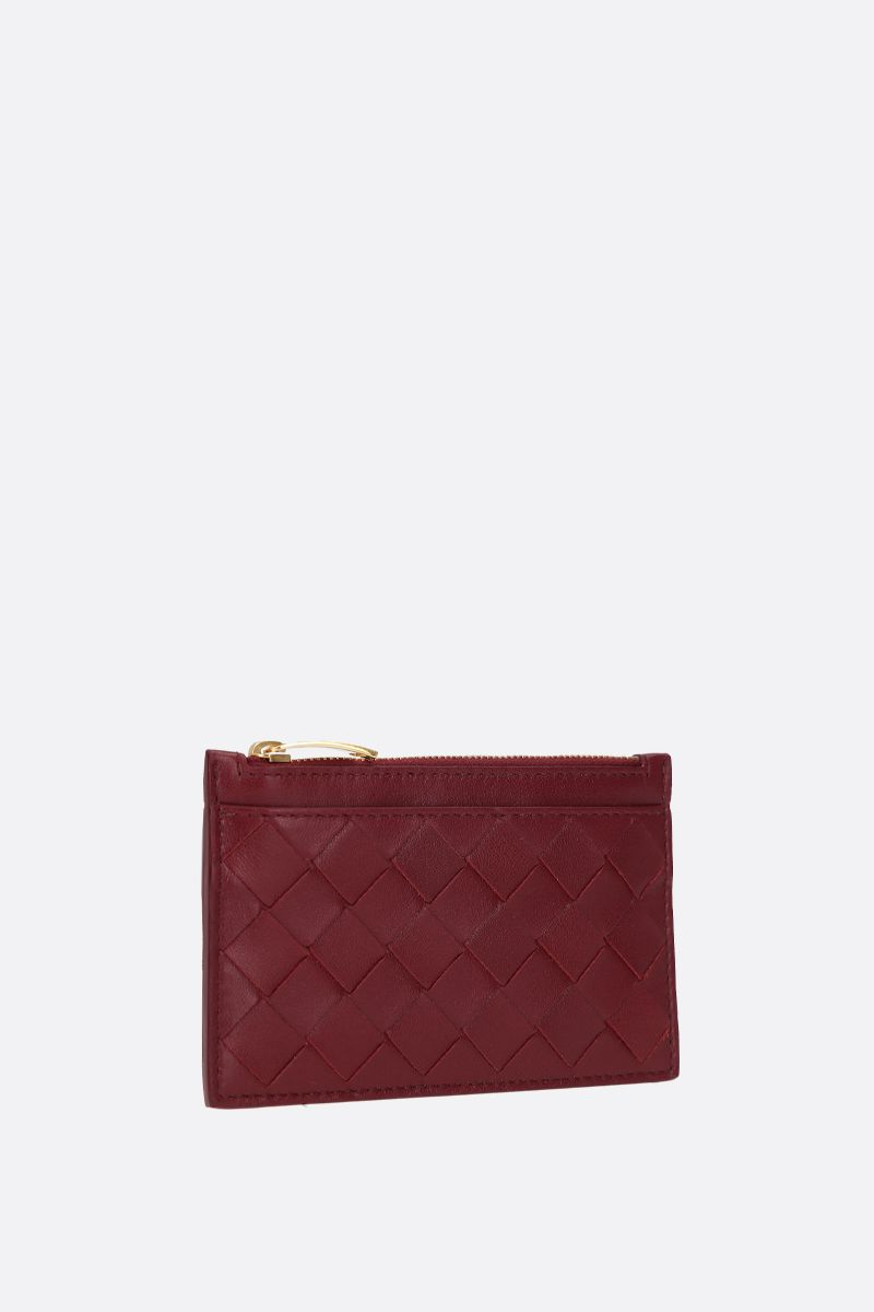 BOTTEGA VENETA: Maxi Intrecciato zipped key holder Color Red_2