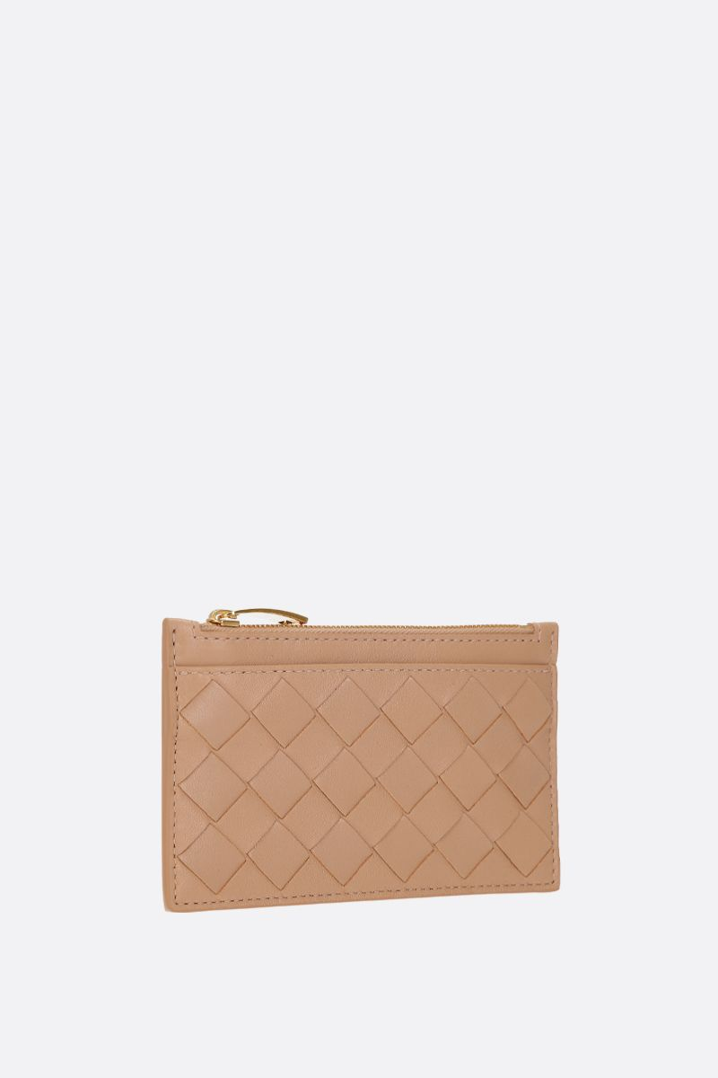 BOTTEGA VENETA: Maxi Intrecciato zipped key holder Color Neutral_2