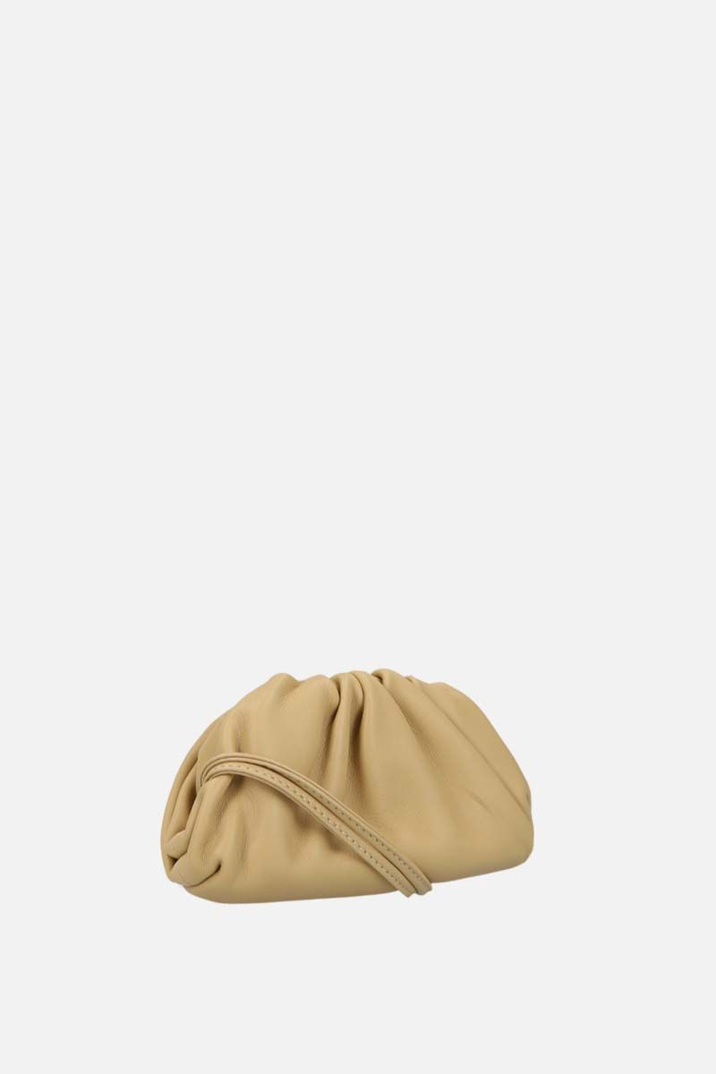 BOTTEGA VENETA: smooth leather coin purse Color Gold_2