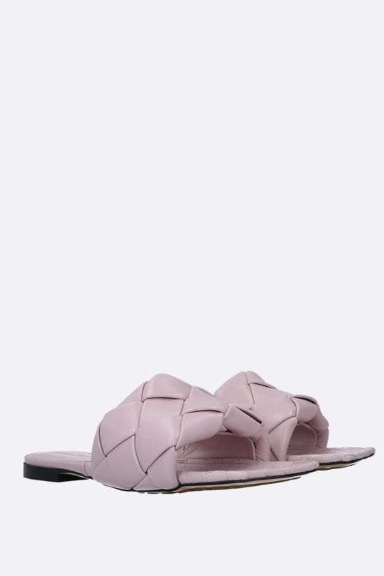 BOTTEGA VENETA: BV Lido Intrecciato nappa flat sandals Color Neutral_2