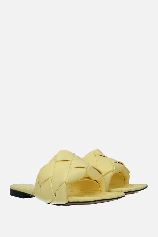 BOTTEGA VENETA: BV Lido Intrecciato nappa flat sandals Color Yellow_2