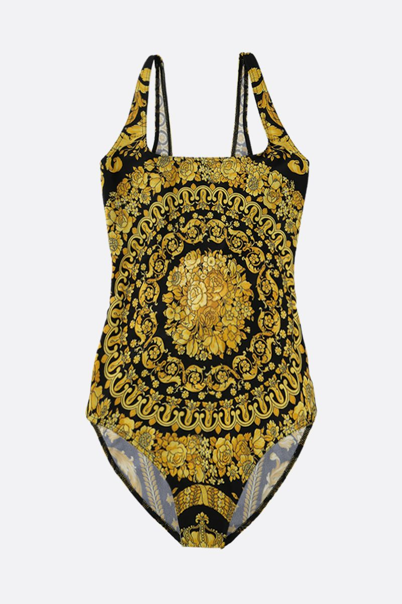 VERSACE: Barocco print lycra one-piece swimsuit_1