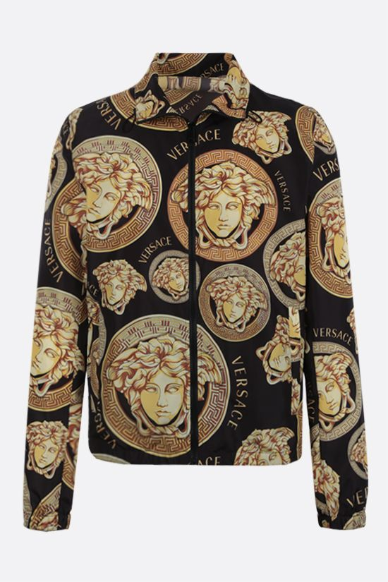 VERSACE: Medusa Amplified print nylon windbreaker Color Black_1