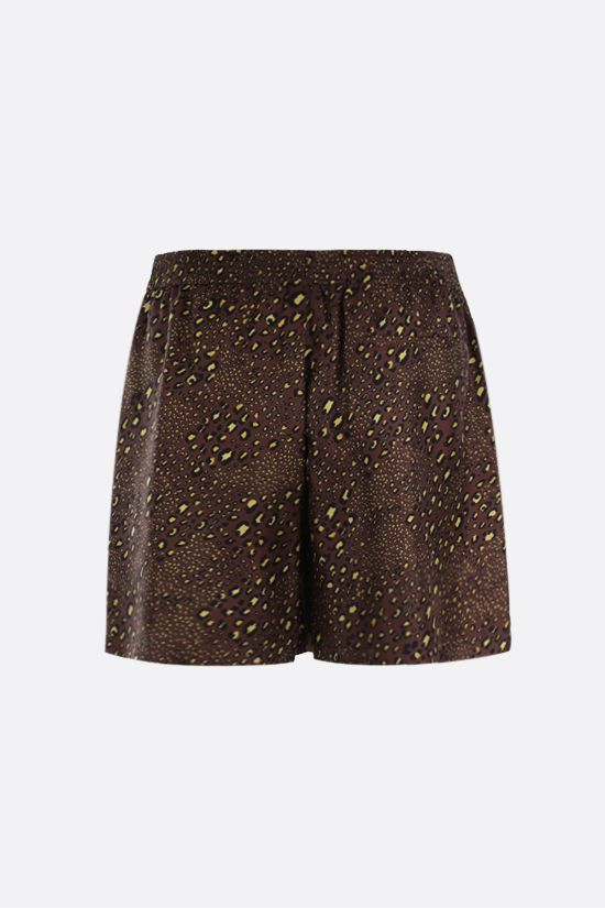 VERSACE: Barocco Mosaic print silk shorts Color Gold_2