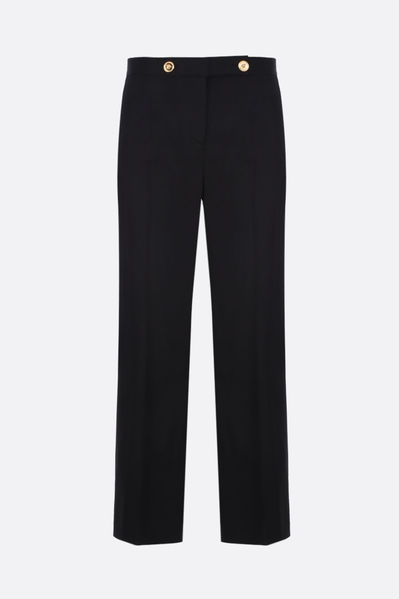 VERSACE: stretch cady cropped pants Color Black_1