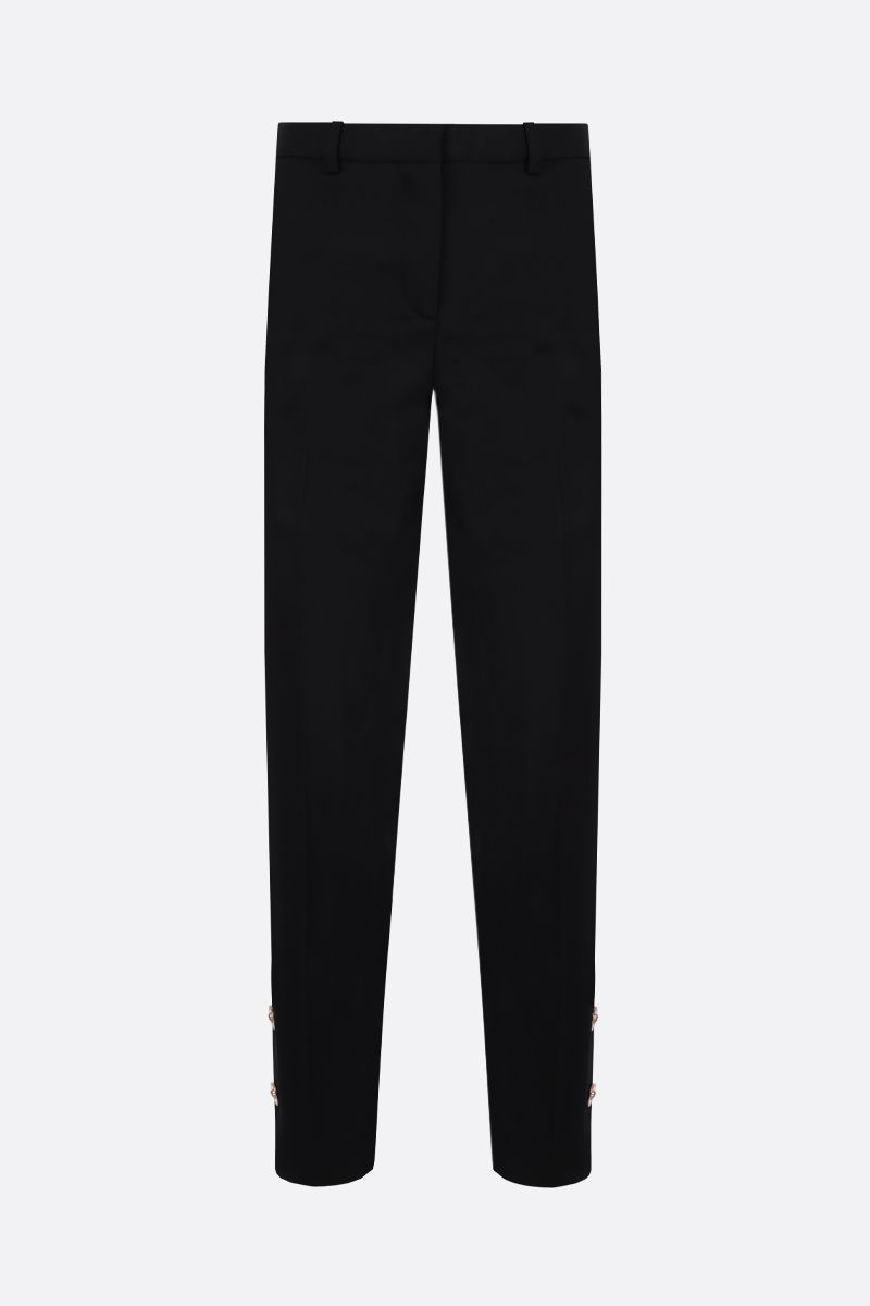 VERSACE: Medusa-detailed stretch wool cropped pants Color Black_1