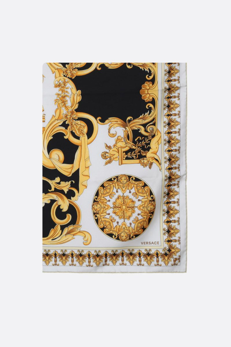 VERSACE: Barocco print silk twill foulard Color Multicolor_1