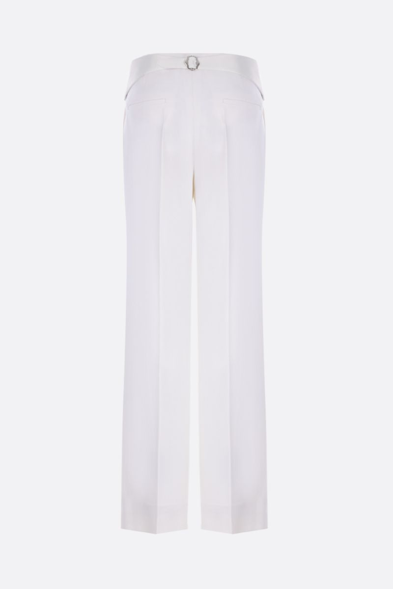 VICTORIA BECKHAM: wool tuxedo pants Color White_2