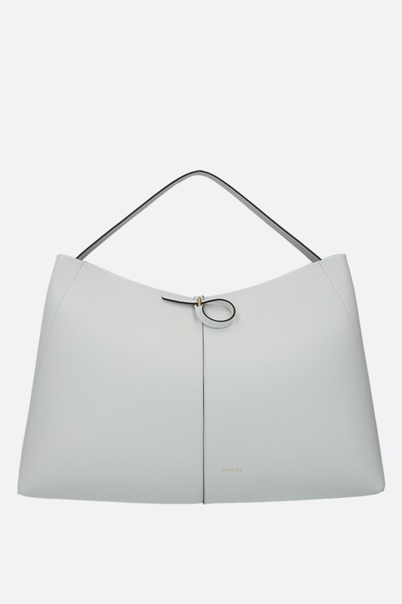 WANDLER: Ava large grainy leather tote Color White_1