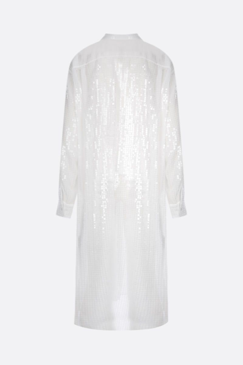 JUNYA WATANABE: abito chemisier in paillettes Colore White_2