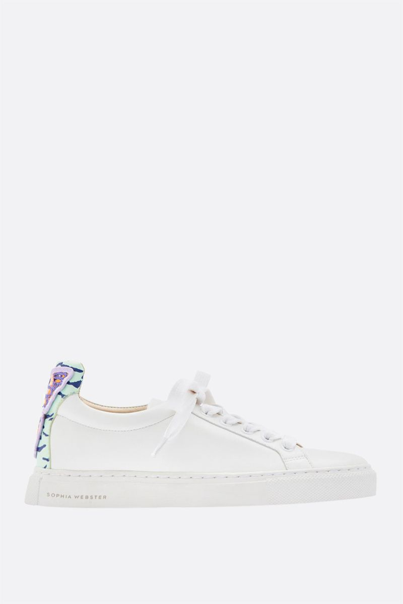 SOPHIA WEBSTER: Butterfly smooth leather sneakers Color White_1