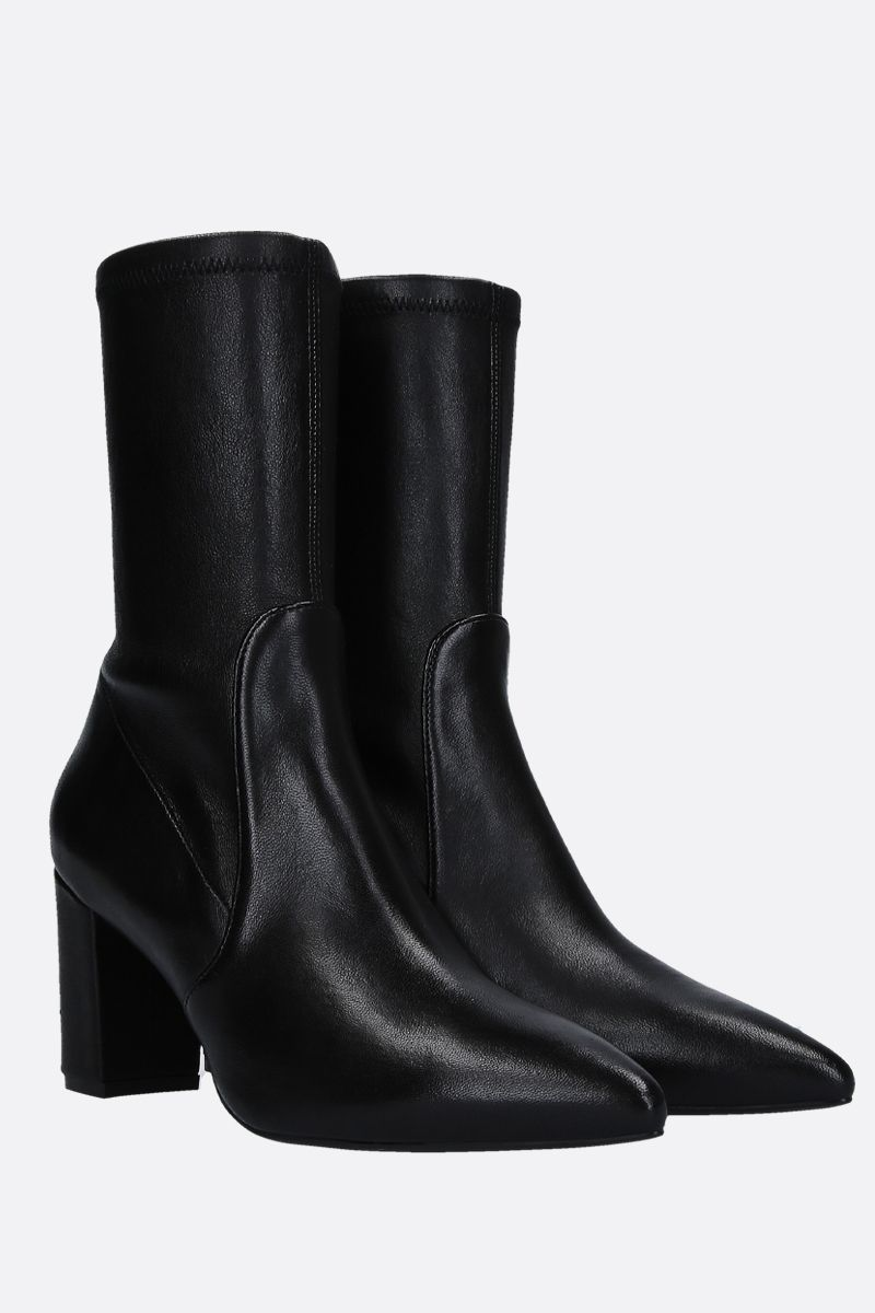 STUART WEITZMAN: Landry ankle boots in soft nappa Color Black_2