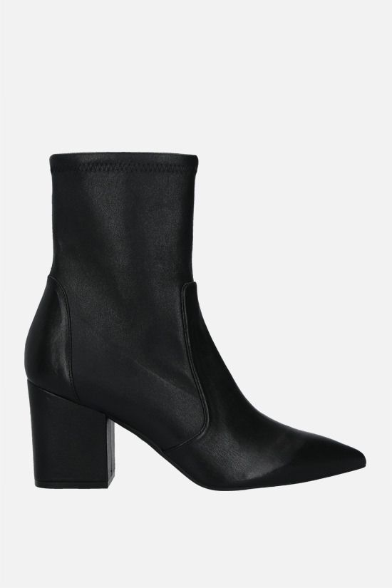 STUART WEITZMAN: Vernell 75 soft nappa ankle boots Color Black_1