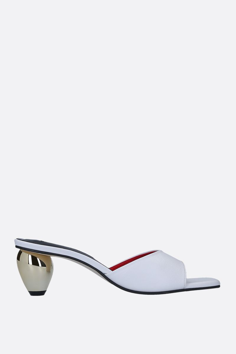 YUUL YIE: June sandals in smooth leather Color White_1