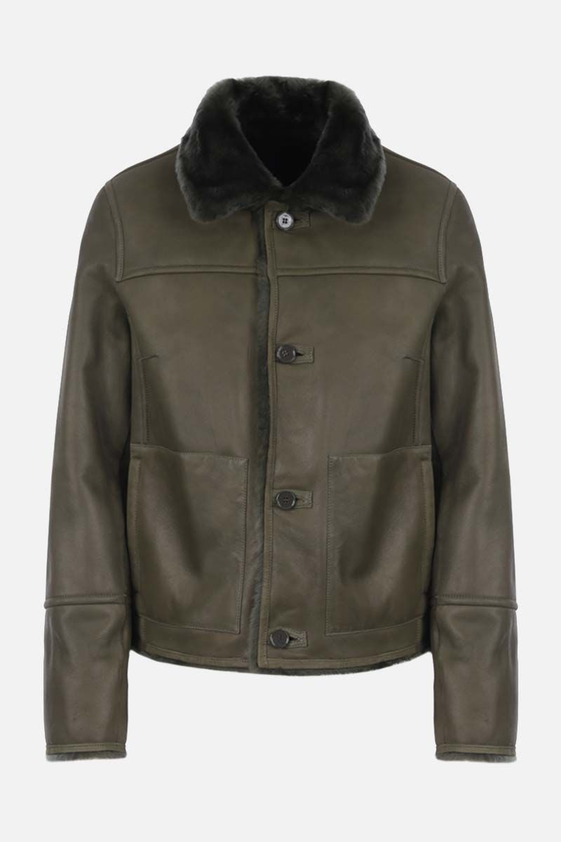 YVES SALOMON: reversible shearing jacket Color Green_2