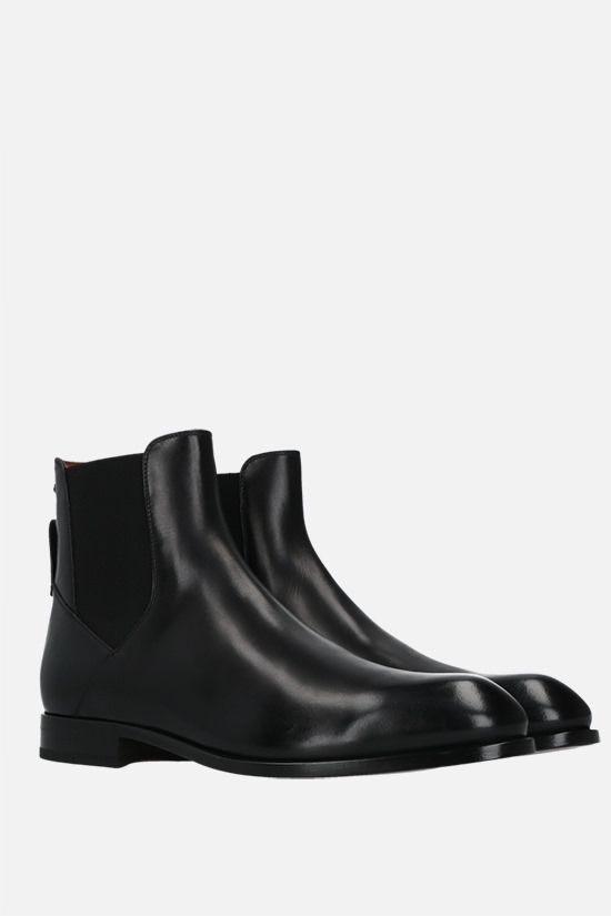 ERMENEGILDO ZEGNA: Vienna Blake smooth leather beatles Color Black_2
