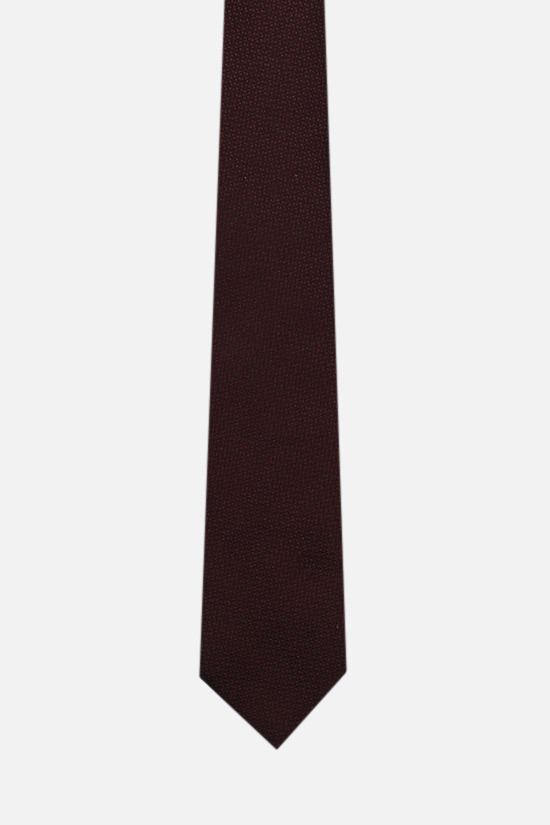 ERMENEGILDO ZEGNA: silk jacquard tie Color Red_1