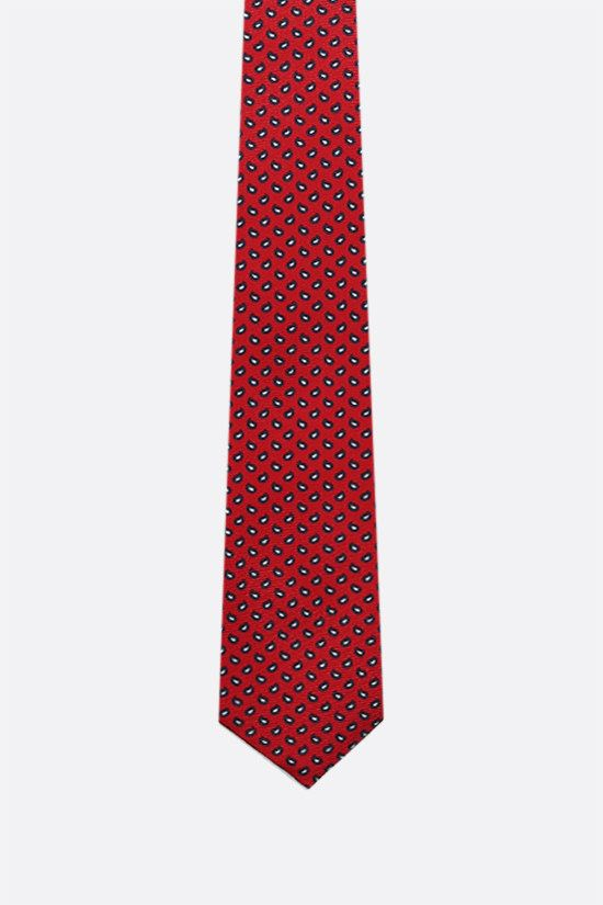 ERMENEGILDO ZEGNA: silk twill tie Color Red_1