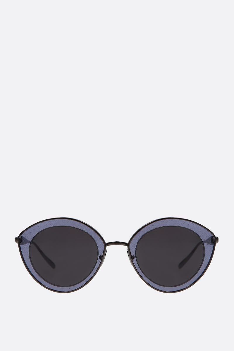 ALAIA: cat-eye metal sunglasses Color Grey_1