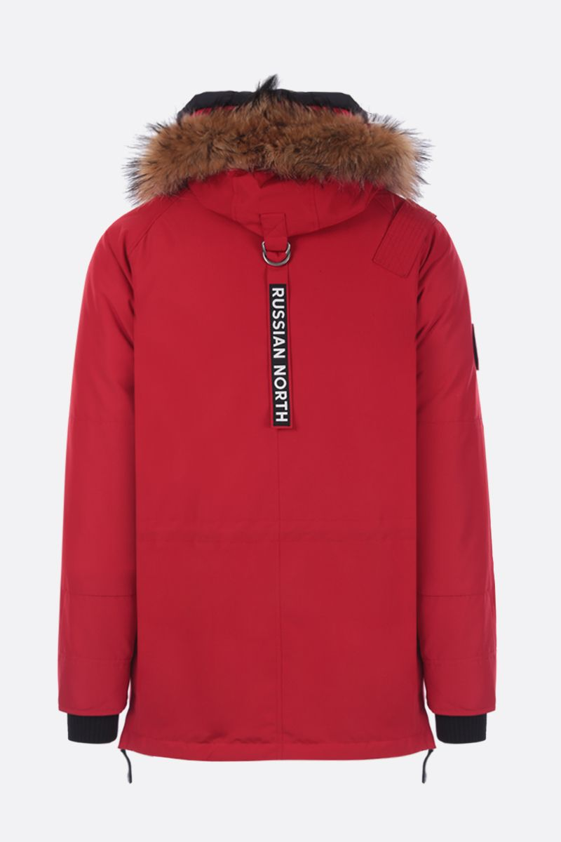 ARCTIC EXPLORER: Chill down parka in technical fabric Color Red_2
