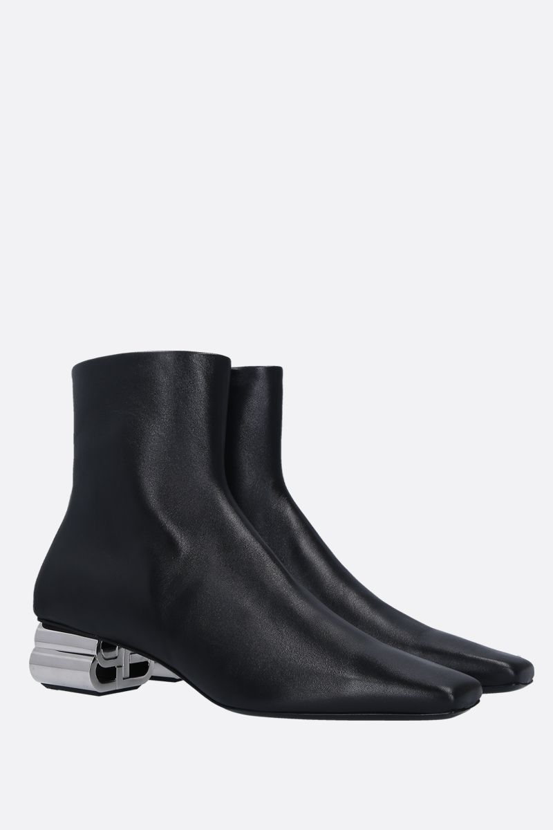 BALENCIAGA: Typo ankle boots in shiny leather Color Black_2