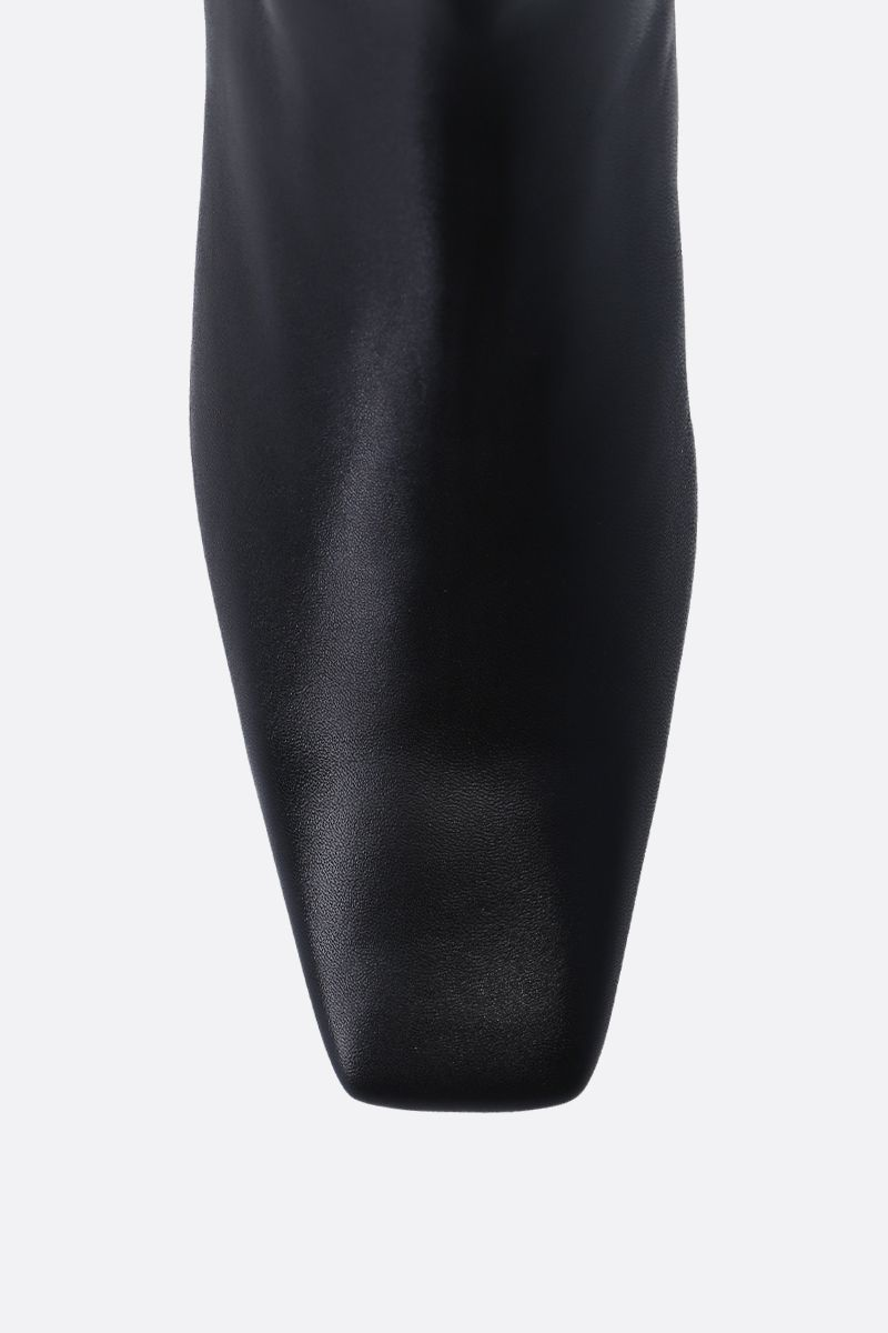 BALENCIAGA: Typo ankle boots in shiny leather Color Black_4