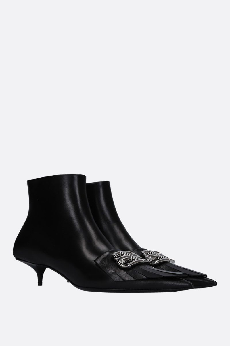 BALENCIAGA: BB ankle boots in smooth leather Color Black_2