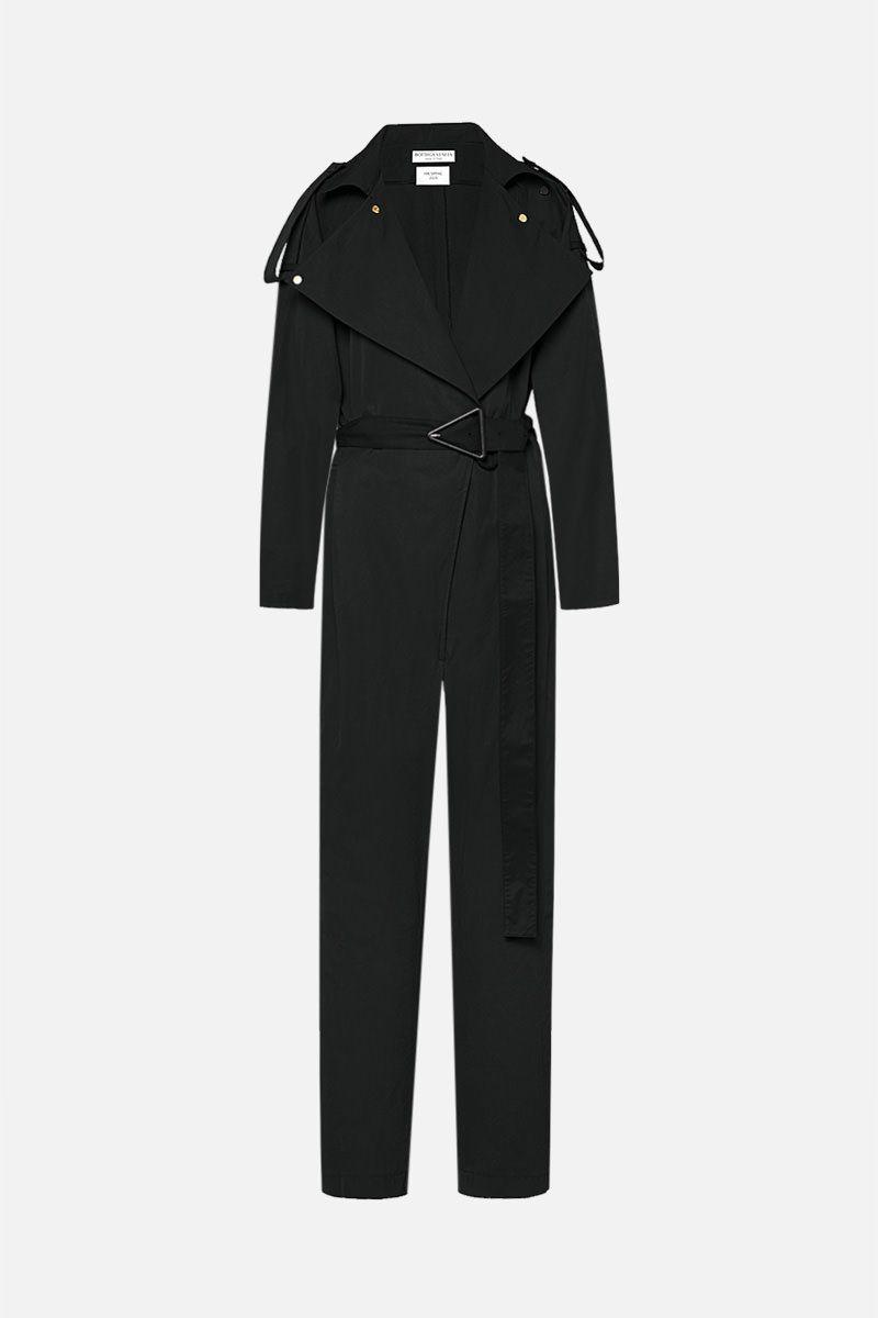 BOTTEGA VENETA: technical cotton jumpsuit Color Black_1