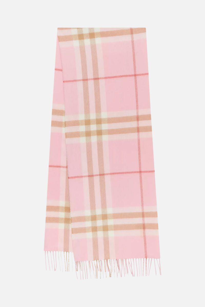 BURBERRY: Giant check cashmere scarf_2