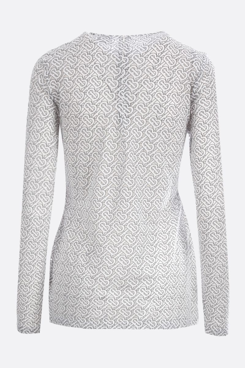 BURBERRY: Panaro devorè cotton long-sleeved top Color White_2