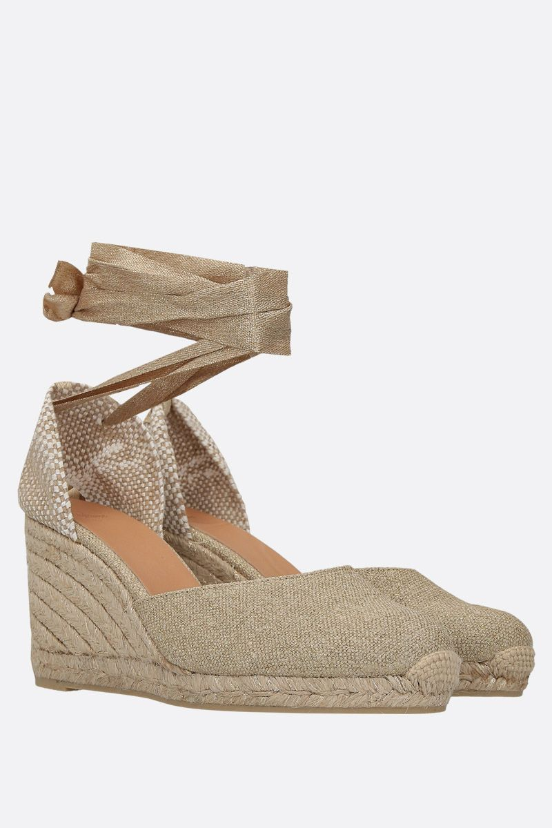 CASTANER: Carina wedge espadrilles in canvas and jute Color Gold_2