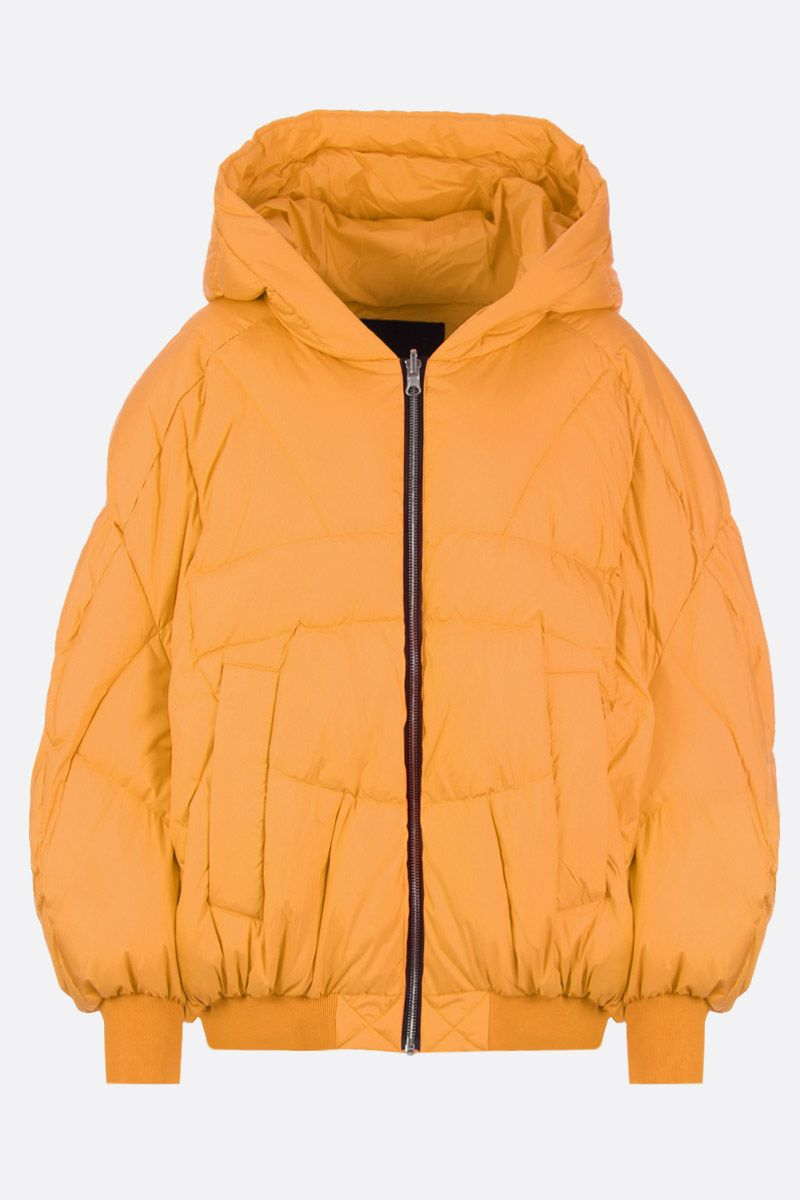 CHEN PENG: oversized down jacket in technical fabric Color Orange_1