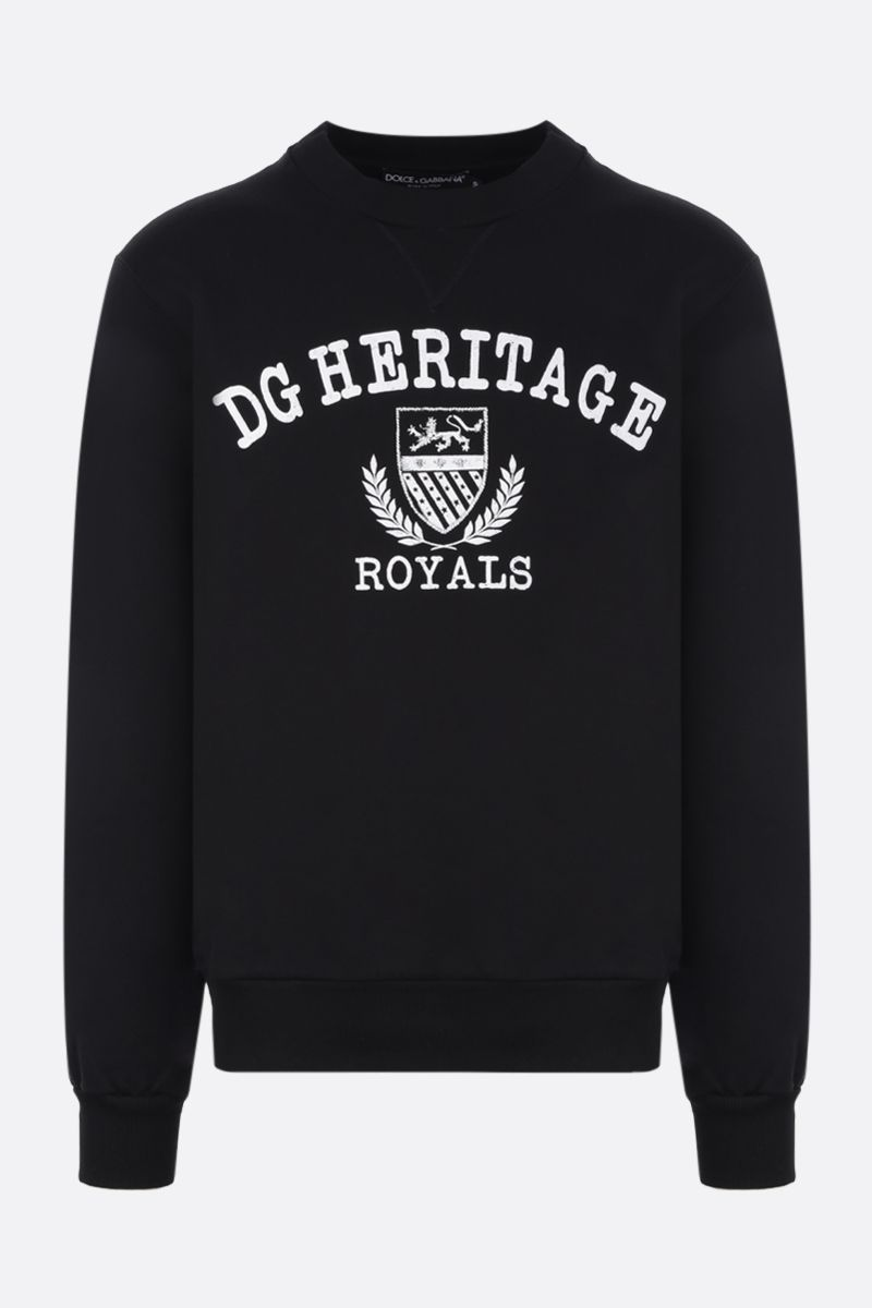 DOLCE & GABBANA: DG Heritage print cotton sweatshirt Color Black_1