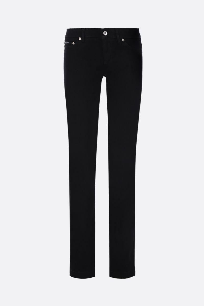 DOLCE & GABBANA: Girly jeans with DG plaque Color Black_1
