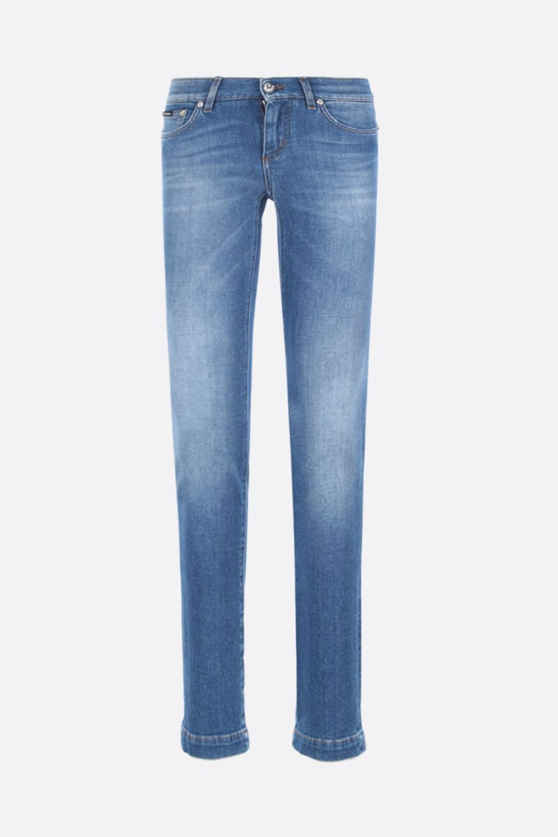 DOLCE & GABBANA: Girly jeans Color Blue_1