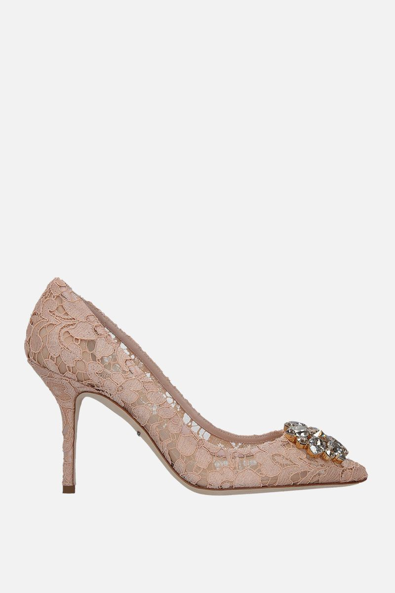 DOLCE & GABBANA: Bellucci pumps in Taormina lace with crystals Color Red_1