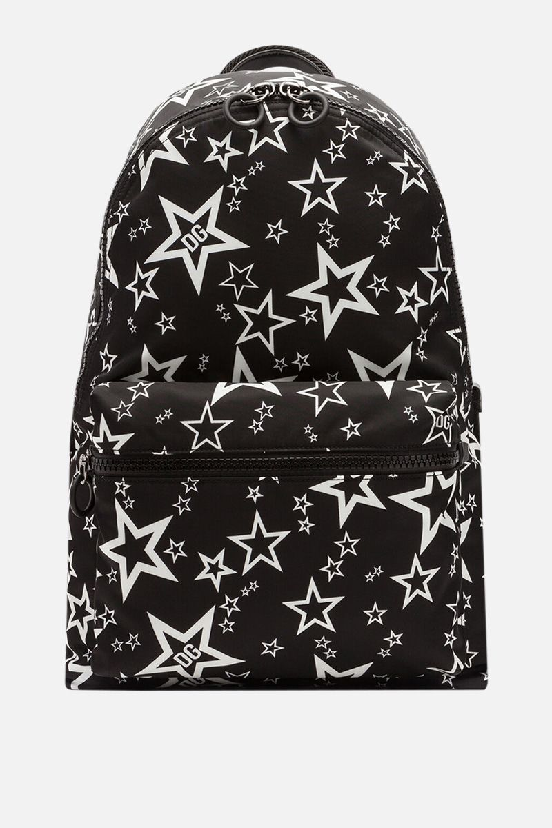 DOLCE & GABBANA: Vulcano backpack in Mixed Star print nylon_1