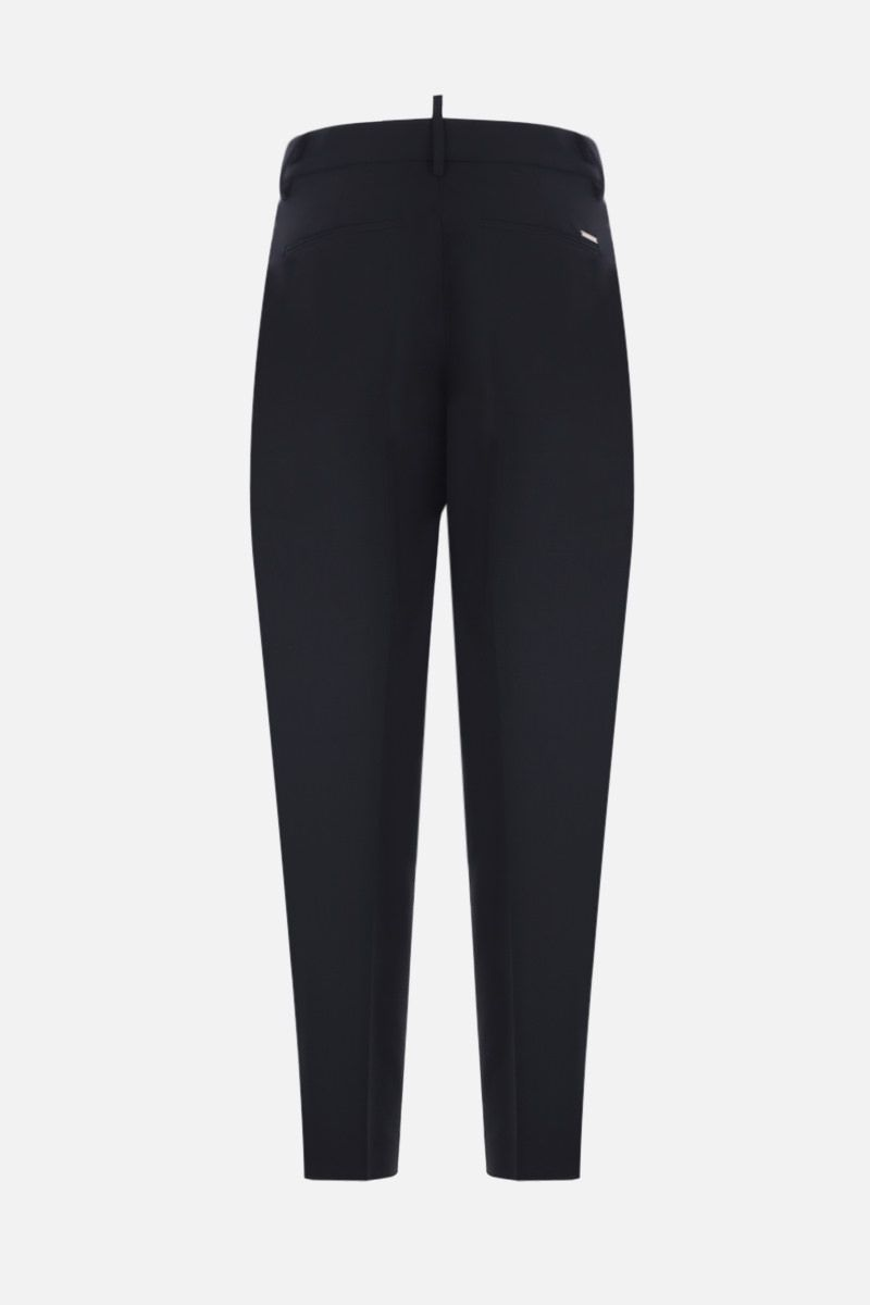 DSQUARED2: stretch wool darted pants Color Black_2