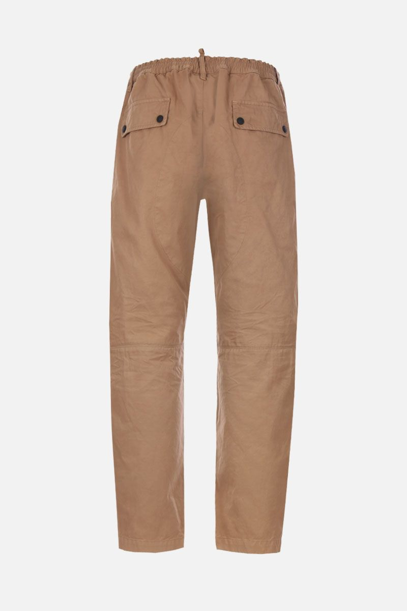 DSQUARED2: pantalone cargo in cotone con zip laterale Colore Neutro_2