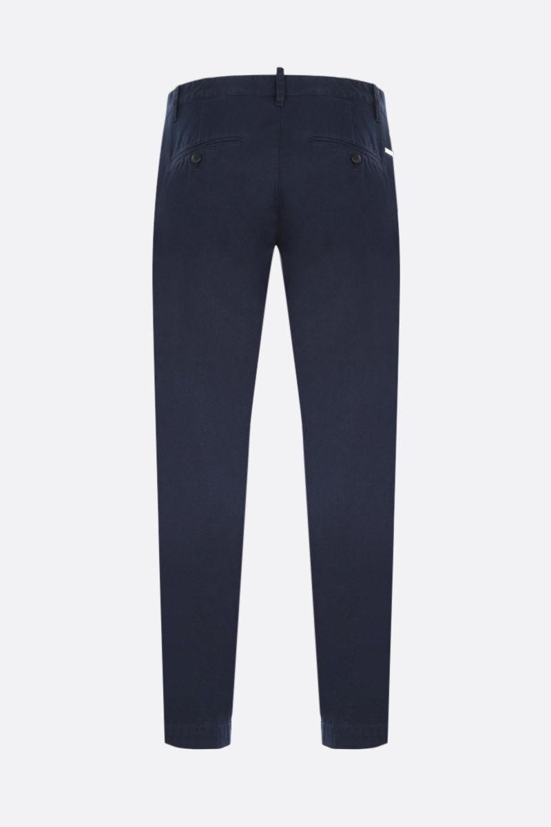 DSQUARED2: cotton chino pants Color Blue_2