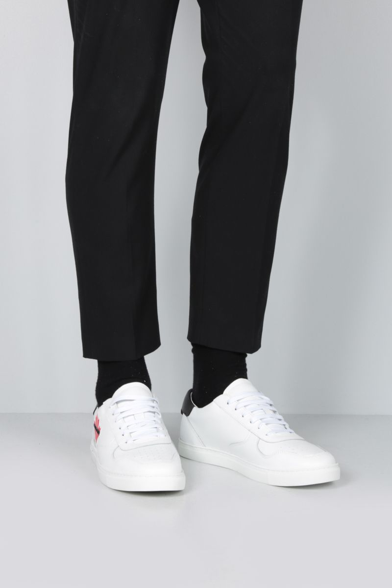 DSQUARED2: Maple Gym sneakers in smooth leather Color White_2