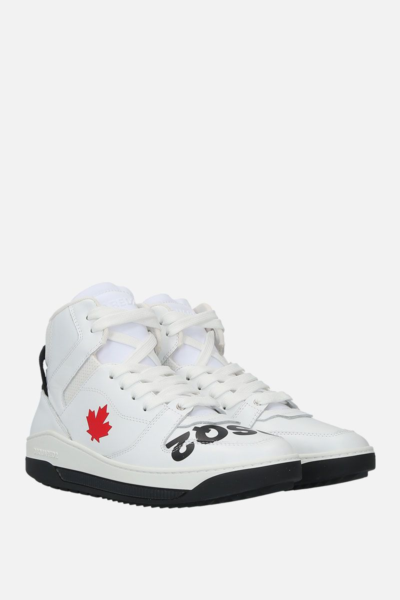 DSQUARED2: Barkley sneakers in smooth leather Color White_2