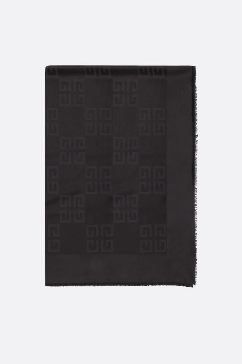 GIVENCHY: 4G silk and wool scarf Color Black_1