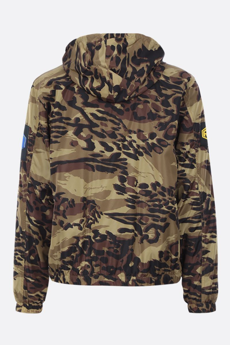 GIVENCHY: camouflage nylon windbreaker Color Brown_2