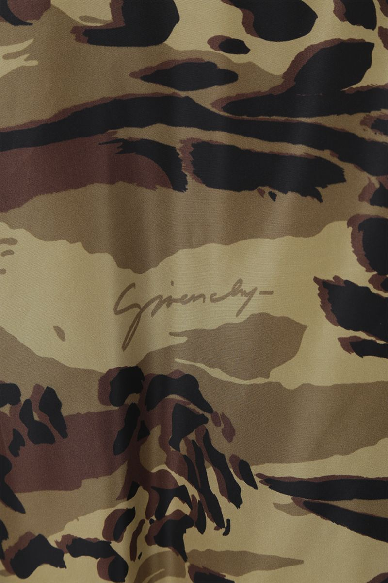 GIVENCHY: camouflage nylon windbreaker Color Brown_3