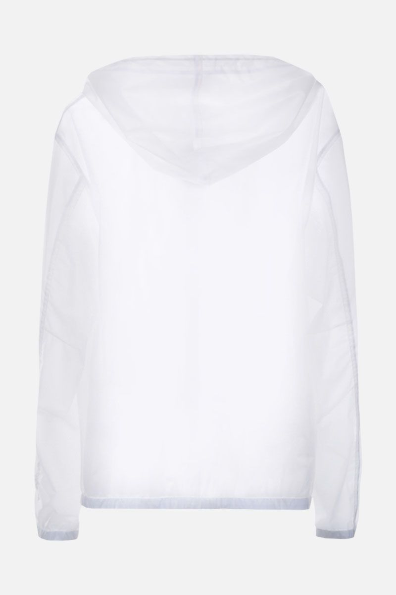 GIVENCHY: Adresse Givenchy windbreaker in transparent PVC Color White_2