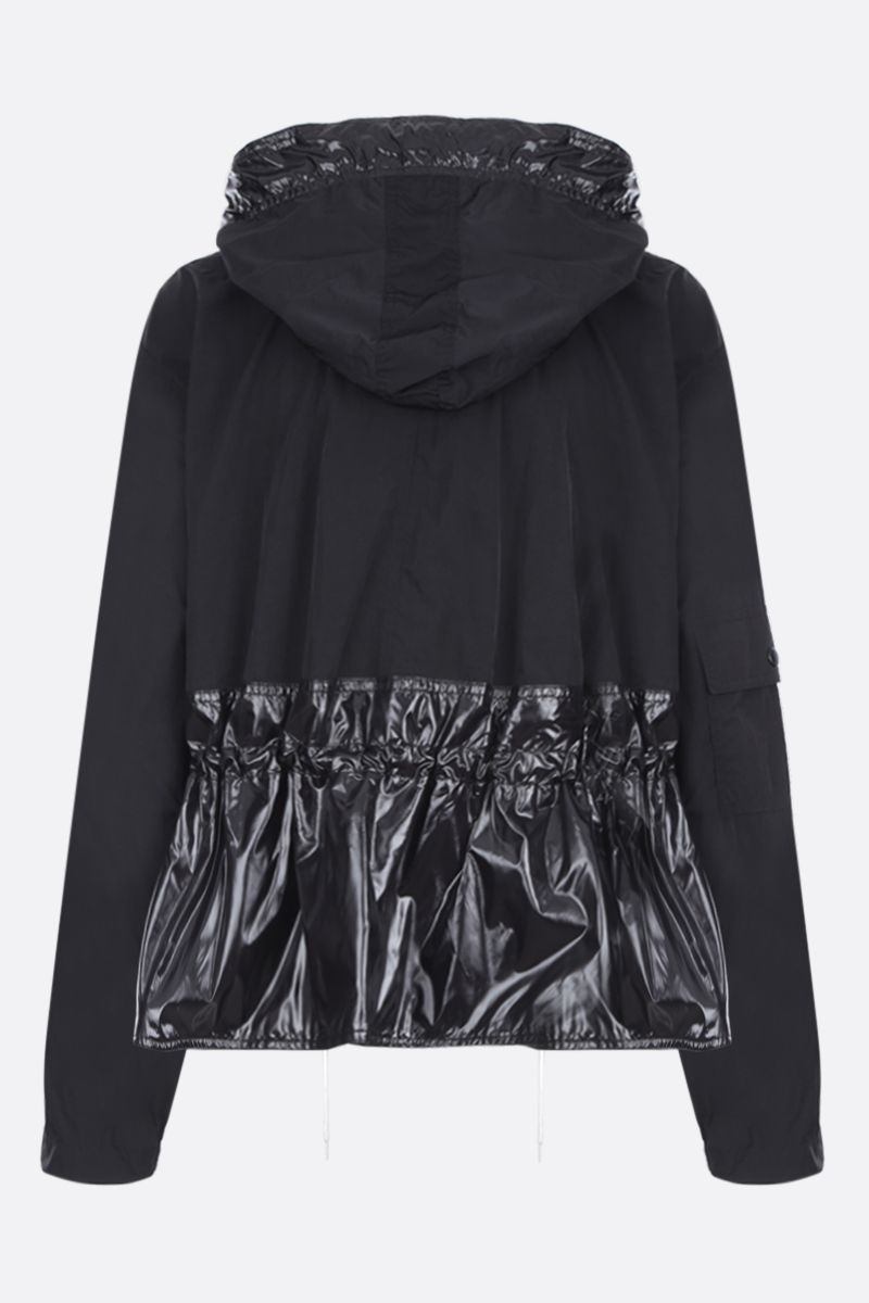 GIVENCHY: nylon windbreaker with logo label Color Black_2