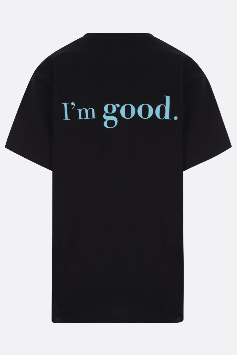 IRENEISGOOD: t-shirt You Good / I'm Good in cotone Colore Nero_2